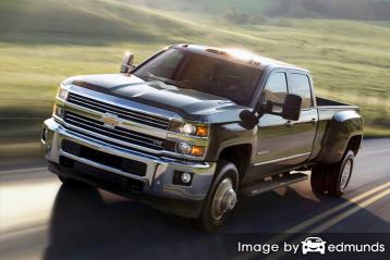 Insurance rates Chevy Silverado 3500HD in Seattle