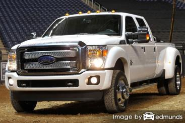Insurance rates Ford F-350 in Seattle